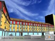 Edif. 62 Viviendas, Locales y Garajes en Canals.