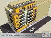 Edificio de 7 Viviendas, Oficina y Garajes en Jumilla.
